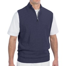 Fairway & Greene Luxe Touch Vest - Zip Neck (For Men) in Navy Heather - Closeouts
