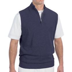 Fairway & Greene Luxe Touch Vest - Zip Neck (For Men) in Navy Heather