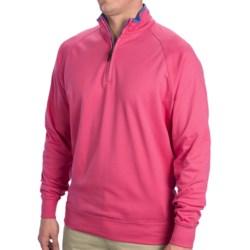Fairway & Greene Luxury Shirt - Interlock Cotton, Zip Neck, Long Sleeve (For Men) in Grenadine