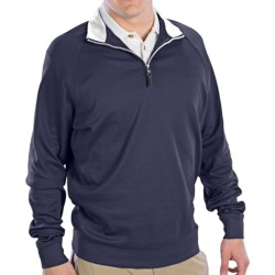 Fairway & Greene Luxury Shirt - Interlock Cotton, Zip Neck, Long Sleeve (For Men) in Grenadine