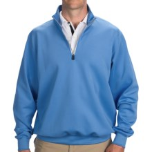 Fairway & Greene Luxury Tech Pullover - Zip Neck, Long Sleeve (For Men) in Sky - Closeouts