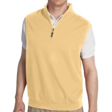 Fairway & Greene Luxury Vest - Zip Neck (For Men) in Cream - Closeouts