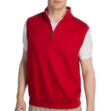 Fairway & Greene Luxury Vest - Zip Neck (For Men) in Red - Closeouts