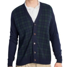 Fairway & Greene McCallan Blackwatch Cardigan Sweater - Elbow Patches (For Men)