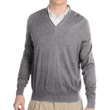 Fairway & Greene McCallan Blend Sweater - Elbow Patches (For Men) in Shadow Grey Heather - Closeouts