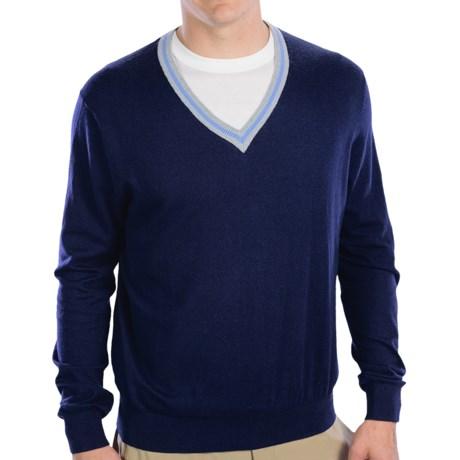 Fairway & Greene McCallan Wind Sweater - V-Neck (For Men) in Marine