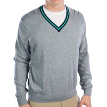 Fairway & Greene McCallan Wind Sweater - V-Neck (For Men) in Shadow Grey Heather - Closeouts