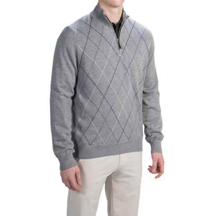 Fairway & Greene Merino Baruffa Sweater - Argyle (For Men) in Shadow Grey Heather - Closeouts