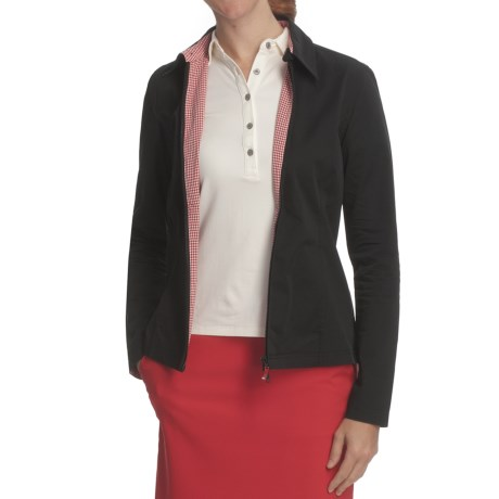 Fairway & Greene Microfiber Jacket (For Women) in Black