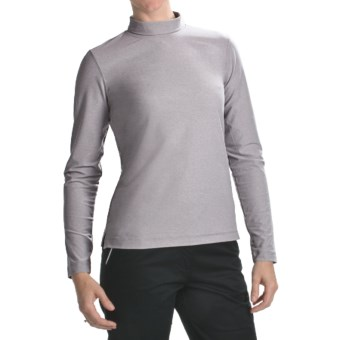 Fairway & Greene Mock Neck Shirt - Long Sleeve (For Women) in Light Charcoal