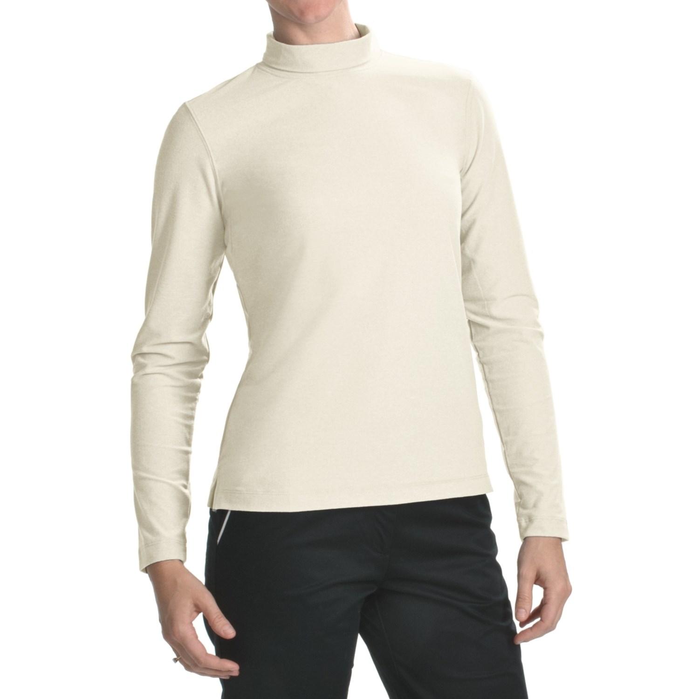 Fairway Greene Mock Neck Shirt Long Sleeve For Women