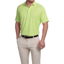 Fairway & Greene Natural Tech Pencil Stripe Polo Shirt - Short Sleeve (For Men) in Tequila - Closeouts