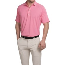 Fairway & Greene Natural Tech Pencil Stripe Polo Shirt - Short Sleeve (For Men) in Watermelon - Closeouts