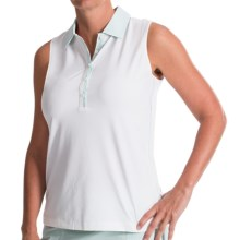 Fairway & Greene Noelle Polo Shirt - Sleeveless (For Women) in White - Closeouts