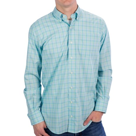 Fairway & Greene Ocean Reef Glen Plaid Shirt - Button-Up, Long Sleeve (For Men) in Bayside