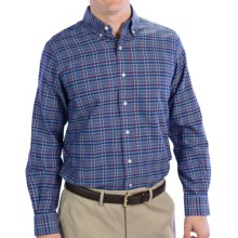 Fairway & Greene Panama Oxford Multi-Grid Sport Shirt - Long Sleeve (For Men) in Blue Multi - Closeouts