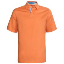 Fairway & Greene Pureformance Grenville Lisle Polo Shirt - Short Sleeve (For Men) in Tangerine - Closeouts