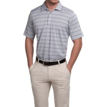 Fairway & Greene Seahawk Stripe Tech Polo Shirt - Short Sleeve (For Men) in Stormy Heather - Closeouts