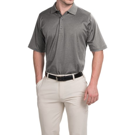 Fairway and Greene Signature Solid Lisle Polo Shirt Mercerized Cotton, Short Sleeve (For Men)