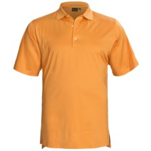 Fairway & Greene Signature Solid Lisle Polo Shirt - Mercerized Cotton, Short Sleeve (For Men) in Solid Orange Peel - Closeouts