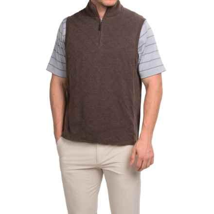 Fairway & Greene Skyline Quilted Wind Vest - Zip Neck (For Men) in Chocolate Heather - Closeouts
