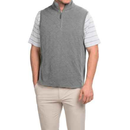 Fairway & Greene Skyline Quilted Wind Vest - Zip Neck (For Men) in Shadow Grey Heather - Closeouts