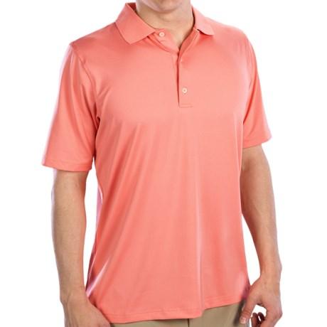 Fairway & Greene Solid Tech Jersey Polo Shirt - Short Sleeve (For Men) in Fresco