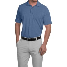 Fairway & Greene Solid Tech Polo Shirt - Short Sleeve (For Men) in Dark Chambray Blue Heather - Closeouts