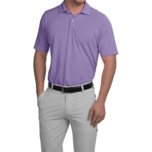 Fairway & Greene Solid Tech Polo Shirt - Short Sleeve (For Men) in Purple Heather - Closeouts