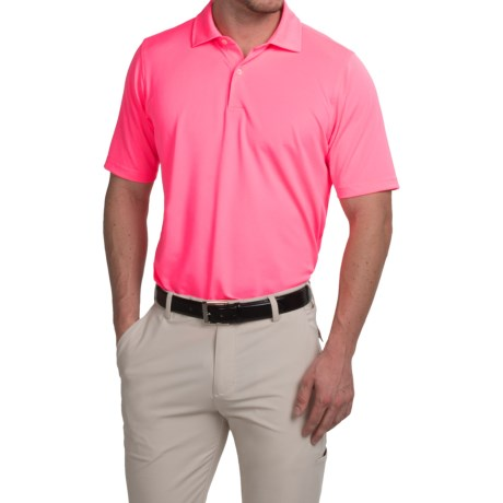 Fairway and Greene Solid Tech Polo Shirt Short Sleeve (For Men)