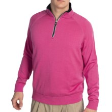 Fairway & Greene Solid Tech Windsweater - Merino Wool Blend, Zip Neck (For Men) in Hot Pink - Closeouts