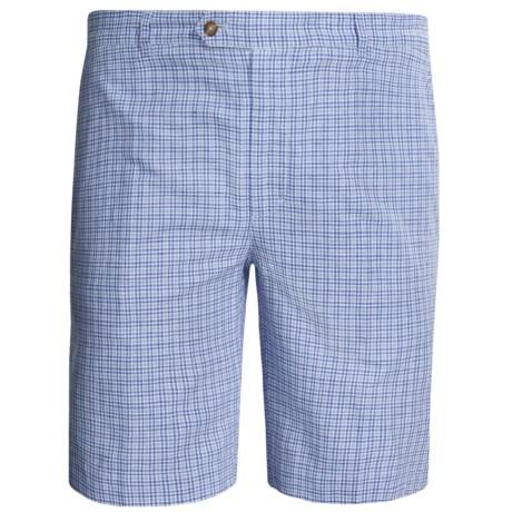Fairway & Greene St. Tropez Shorts - Linen-Cotton (For Men) in Blue/White
