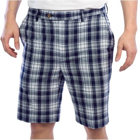 Fairway & Greene Surf Madras Shorts - Cotton (For Men) in Marine