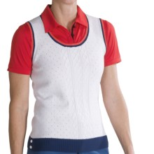 Fairway & Greene Sweater Vest - Pima Cotton (For Women) in White - 2nds