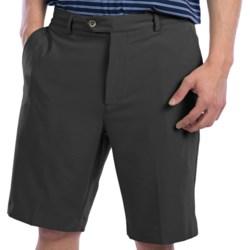Fairway & Greene Tech Twill Shorts - Flat Front (For Men) in Black