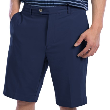 Fairway & Greene Tech Twill Shorts - Flat Front (For Men) in Black