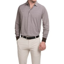 Fairway & Greene The Natural Parkway Tech Polo Shirt - Long Sleeve (For Men) in Chocolate Heather - Closeouts