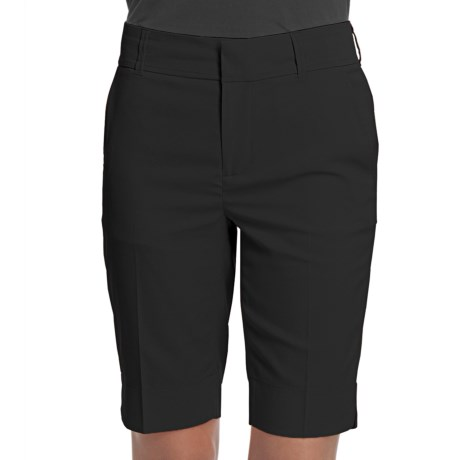 Fairway & Greene Twill Bermuda Shorts - Microfiber (For Women) in Black