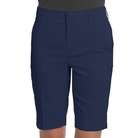 Fairway & Greene Twill Bermuda Shorts - Microfiber (For Women) in Marine