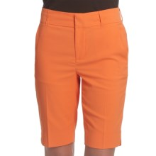 Fairway & Greene Twill Bermuda Shorts - Microfiber (For Women) in Orange Zest - Closeouts