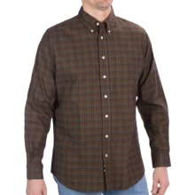 Fairway & Greene Twill Sport Shirt - Long Sleeve (For Men) in Olive/Red/Blue - Closeouts