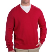 Fairway & Greene V-Neck Sweater - Cashmere Blend (For Men) in Red - Closeouts