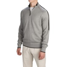 Fairway & Greene Varick Sweater - Zip Neck (For Men) in Shadow Grey Heather - Closeouts
