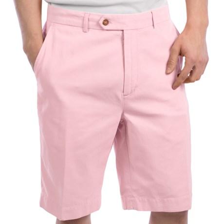 Fairway & Greene Washed Silk-Cotton Twill Shorts - Flat Front (For Men) in Passport Blue