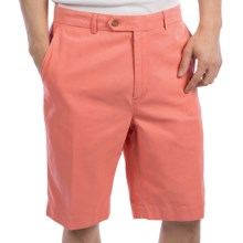 Fairway & Greene Washed Silk-Cotton Twill Shorts - Flat Front (For Men) in Georgia - Closeouts