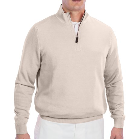 Fairway & Greene Wind Sweater - Merino Wool, Zip Neck (For Men) in Bitters