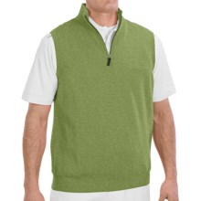 Fairway & Greene Wind Vest - Merino Wool (For Men) in Olive Heather - Closeouts