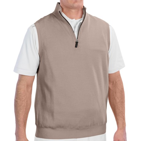 Fairway & Greene Wind Vest - Merino Wool (For Men) in Tweed