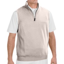 Fairway & Greene Wind Vest - Merino Wool (For Men) in Vanilla - Closeouts