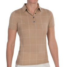 Fairway & Greene Windowpane Polo Shirt - Short Sleeve (For Women) in Tan - 2nds